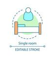 single room concept icon vector image vector image