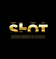slot machine style font vector image vector image