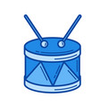 snare drum line icon vector image vector image