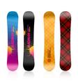 Snowboard design vector image vector image