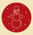 snowman icon in thin line style vector image vector image
