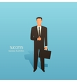 Success business conceptual with vector image vector image