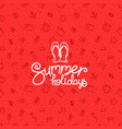 summer holidays red banner vector image vector image
