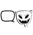 talk cat vector image