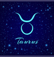 taurus zodiac sign on a night sky vector image vector image