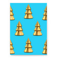 trendy poster with xmas pattern golden christmas vector image