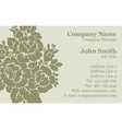 Victorian rose Damask Business Card vector image vector image