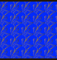 wallpaper golden leaves on a blue background vector image