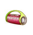 wireless speaker digital gadget color vector image vector image