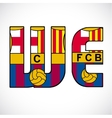 Word We with barcelonas logo vector image