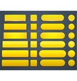 Yellow high-detailed modern web buttons vector | Price: 1 Credit (USD $1)