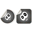 Eye Icon stickers set isolated on white vector image