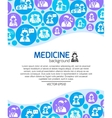 Healthcare and medicine doctors background vector image