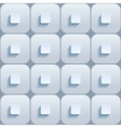 Abstract 3d geometric background White seamless vector image