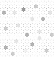 White hexagons abstract background vector image