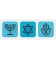 Judaism flat vector image