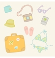 Travel objects set vector image