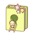 A book is placed vector image vector image