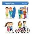 Active lifestyle people vector image