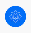 atom nuclear molecule chemistry science white vector image