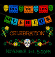 banner for day of the dead vector image vector image