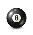 billiardblack pool ball with number 8snooker vector image vector image