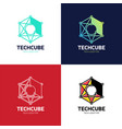 blockchain logo template technology design vector image vector image
