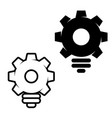 bulb shaped gears vector image