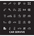 car service editable line icons set on vector image vector image