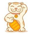 Cat lucky vector image
