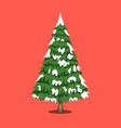 christmas tree xmas icon cartoon style vector image