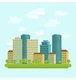 City downtown centre flat vector image vector image