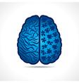 Conceptual idea - Brain with puzzle pieces vector image vector image