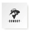 cowboy with bandana scarf mask logo design vector image