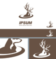 Deer Stag Head sign swoosh label branding template vector image