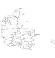 Denmark Black White Map vector image