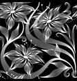 elegance abstract flowers seamless pattern vector image