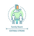 family room concept icon vector image vector image