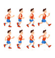 flat running man athletic boy run animation vector image vector image