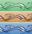 floral cartoon header vector image vector image
