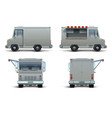 food truck mockup realistic delivery car vector image