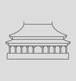 Forbidden City vector image