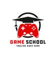 game school inspiration logo vector image vector image