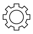 gear wheel line icon cog sign vector image