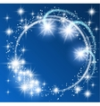 Glowing blue background vector image vector image