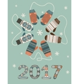 Happy new year 2017 decoration vector image vector image