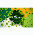 happy saint patricks day design with green falling vector image