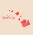 hearts flying out from letter vector image