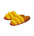 home footwear slippers soft comfortable slip on vector image