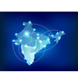 India country map polygonal with spot lights vector image vector image